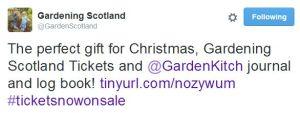 Gardening Scotland tweet